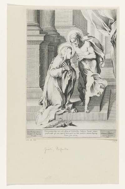 Christus en de heilige Catharina van Siena