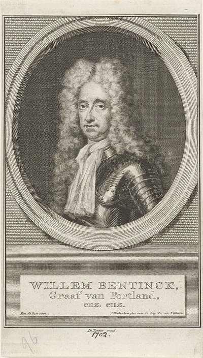 Portret van Hans Willem Bentinck, graaf van Portland; Willem Bentinck