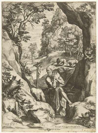 Landschap met de H. Hieronymus
