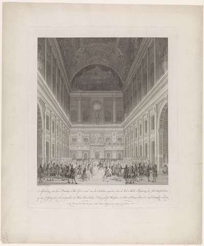 Bal in het Stadhuis, 1768; Afbeelding van Prachtige Bal, op de zaal van het Stadhuis (...) op den 2den Juny 1768; Afbeelding der Vreugdebedryven en Plegtigheden die by de aankomst en gedurende het verblyf (...) Willem...