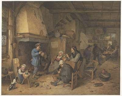 Boerengezelschap binnenshuis