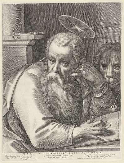 De evangelist Marcus; Marcvs Evangelista, Patriarcha, Martyr; Vier evangelisten