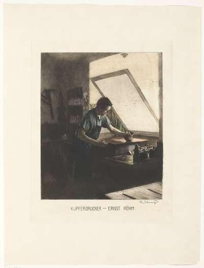 Portret van de drukker Ernst Röhm