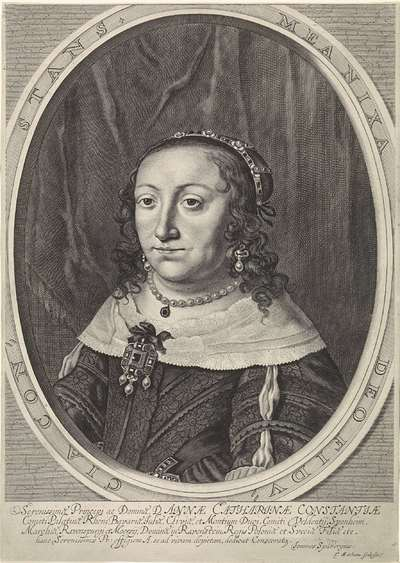 Portret van Anna Catharina Constance, paltsgravin van Palts-Neuburg