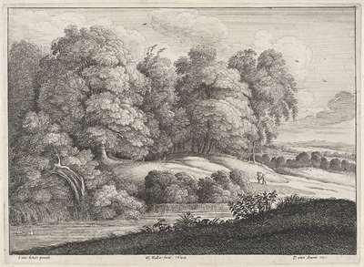 Landschap met rivier aan de bosrand; Landschappen naar Jacques d'Arthois