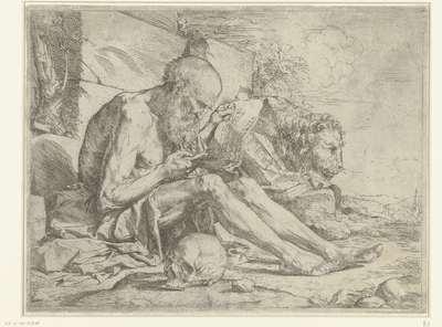 Heilige Hieronymus lezend