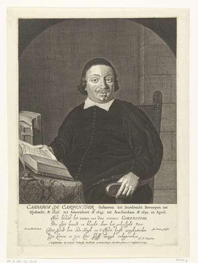 Portret van Casparus de Carpentier op 39-jarige leeftijd