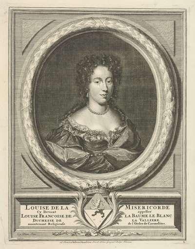 Portret van Louise Françoise de La Baume Le Blanc de la Vallière