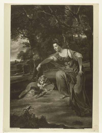 Portret van Elisabeth, Duchess of Manchester and Son