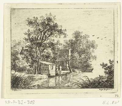 Twee mannen bij een boothuis