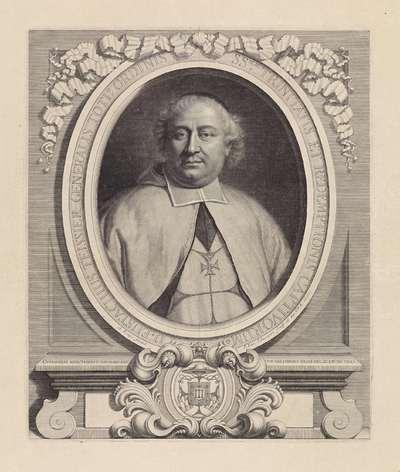 Portret van Eustache Teissier, magister-generaal van de Orde der Trinitariërs