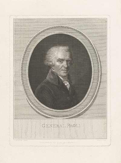 Portret van generaal Pascal Paoli