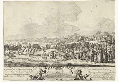 De Walvis gestrand tussen Noordwijk en Zandvoort, 1629; Wanneer ons 't VIerde LIcht Van 't nIeVWe Iaer qVam groeten Is hIer dees WaLLeVIsCh Lang drIe en zestIg Voeten BII NoordWIIk op de see, na Sandvoort weg gestrand God...