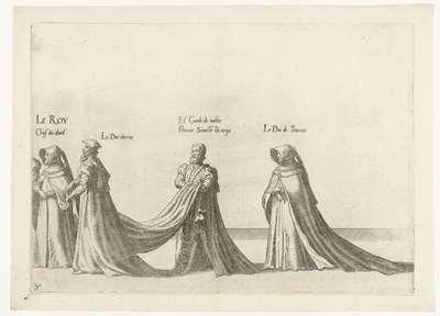 Deel van de optocht, nr. 30; Begrafenisoptocht van keizer Karel V, 1558