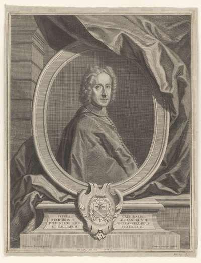 Portret van Pietro Ottoboni; Petrus cardinalis Otthobonus Alexandri VIII (...)