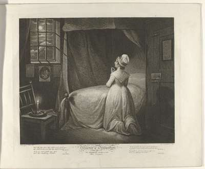 Plate 4. The Modest Girl in the Bed Chamber; Diligence an Dissipation