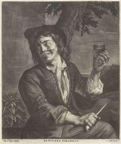 Man met een glas en een pijp; De Sterke Forsheyt
