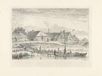 Schellingwoude vanaf de waterkant, 1619; Schellingwou, Ao 1619; Noord-Hollandse landschappen