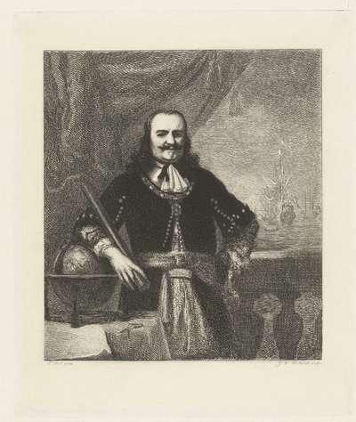 Portret van Michiel Adriaenszoon de Ruyter (1607-76), luitenant-admiraal