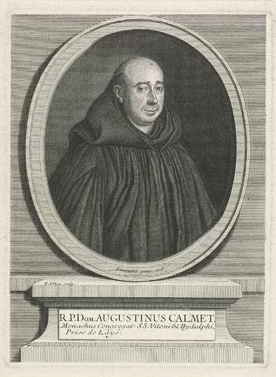 Portret van de theoloog Augustin Calmet