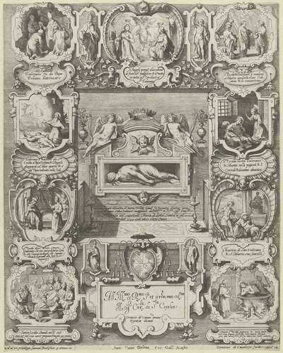 Graftombe van de H. Cecilia in de Santa Cecilia in Trastevere in Rome