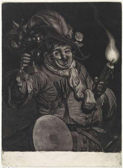 Dronken tamboer met roemer en toorts; De algemene blijdschap om de inname van Namen door stadhouder Willem III, koning van Engeland, september 1695