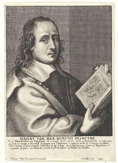 Portret van Hendrick van der Borcht de Jonge; Portretten van kunstenaars; Image de divers hommes desprit sublime