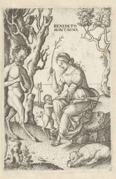 Satyr familie met man en vrouw met kind