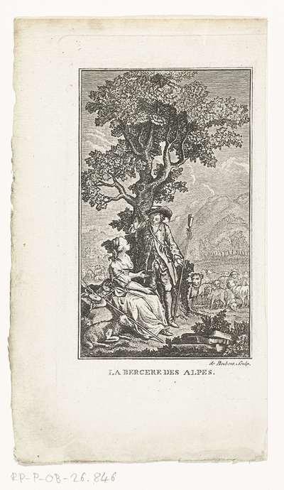 Herder en herderin; La Bergere des Alpes
