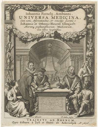 Image from object titled Titelpagina voor: J. Fernelius, Universa Medicina, 1656