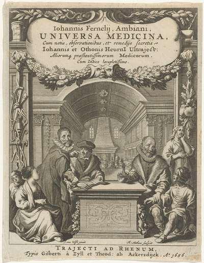 Titelpagina voor: J. Fernelius, Universa Medicina, 1656