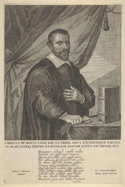 Portret van Carolus de Maets