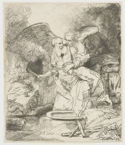 het offer abraham rijn rembrandt europeana