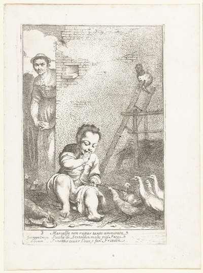Marcolfa vindt Bertoldino broedend op een ei; Historie van Bertoldo, Bertoldino en Cacasenno