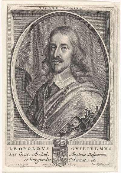 Portret van Aartshertog Leopold Willem van Oostenrijk; Theatrum pontificum, imperatorum, regum, ducum (...)