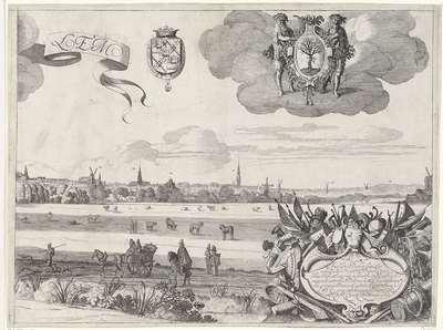 Gezicht op Haarlem A, rechter blad