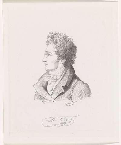 Portret van de kunstenaar Léon Cogniet