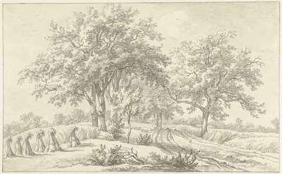 Image from object titled Landschap met schoven in het Braamse in het Hanoverse