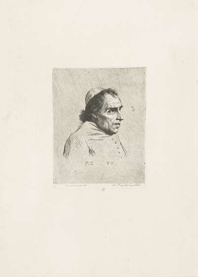 Portret van paus Pius VII; Pie VII