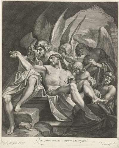 Graflegging van Christus door engelen
