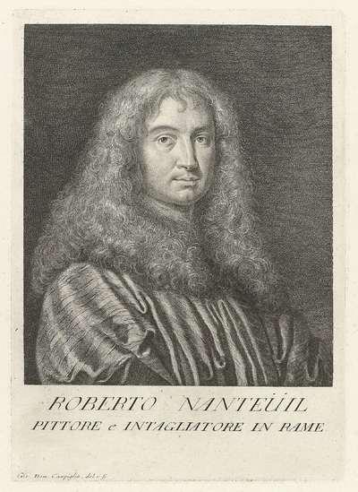 Portret van de kunstenaar Robert Nanteuil; Portretten van kunstenaars