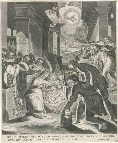 Aanbidding der herders; Leven van Maria