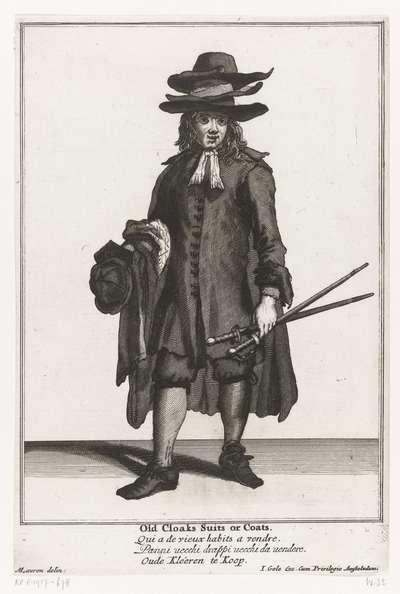 Verkoper van tweedehandskleding; Straatventers in Londen; The Cryes of the City of London