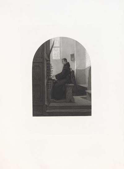 Orgelspelende monnik