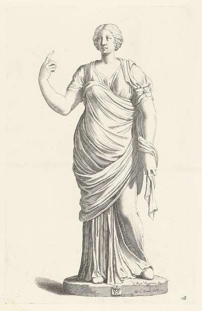 Standbeeld van een staande vrouw; Galleria Giustiniana del Marchese Vincenzo Giustiniani I