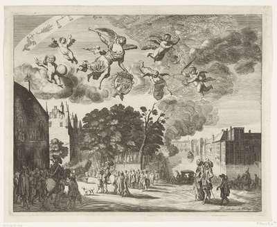 Aankomst van koning Karel II van Engeland te Den Haag, 1660