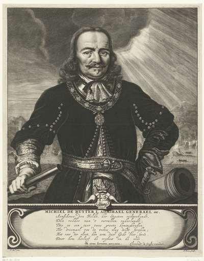 Portret van Michiel Adriaansz. de Ruyter