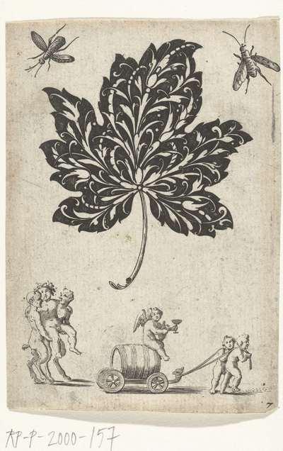 Edelsmidsornament in de vorm van een blad