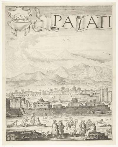 Het paleis van de sultan van Marokko (plaat 1), 1640-1641; Palatium Magni Regis Maroci, in Barbaria
