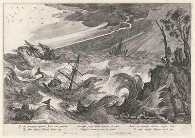 Herfst: storm op zee; De vier seizoenen